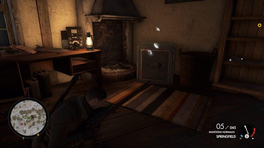Sniper Elite 4 on fait sauter le coffre