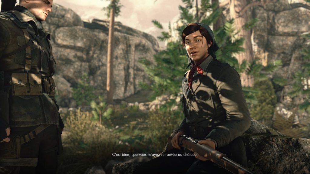 Sniper Elite 4 dialogue scénario