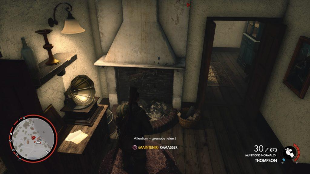 Sniper Elite 4 intérieur détaillé
