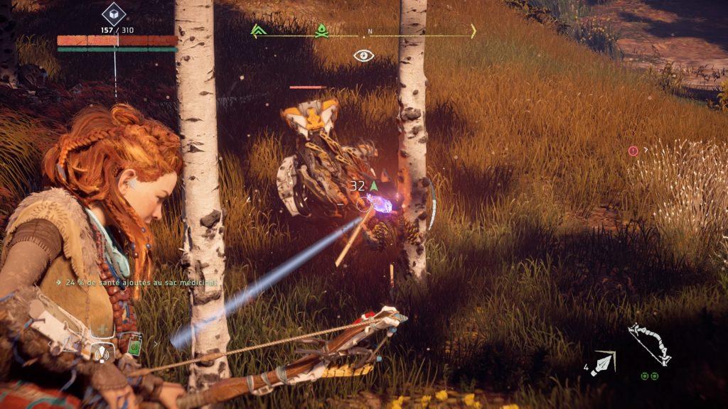 Aloy affronte els machines avec son arc