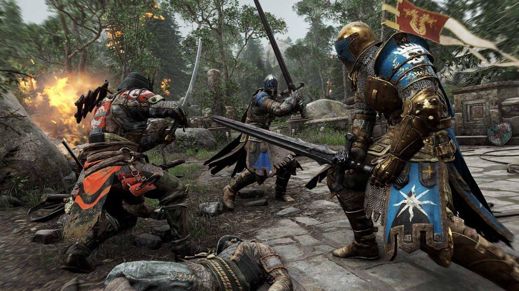 Des combats épiques vous attendent dans le jeux-video for honor sur PS4, Xbox One et PC.