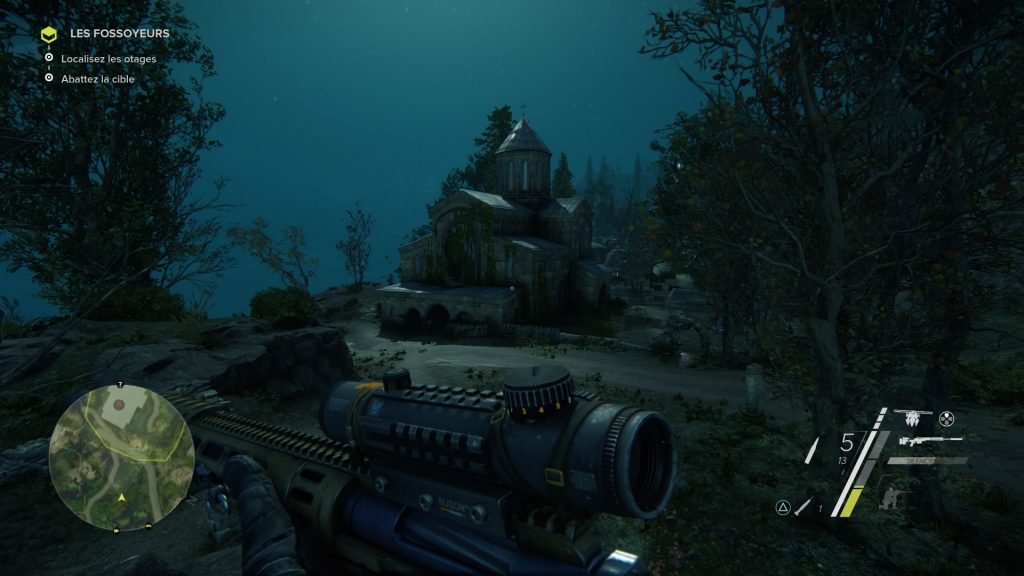 Sniper Ghost Warrior 3 nuit eglise architecture nocturne ambiance