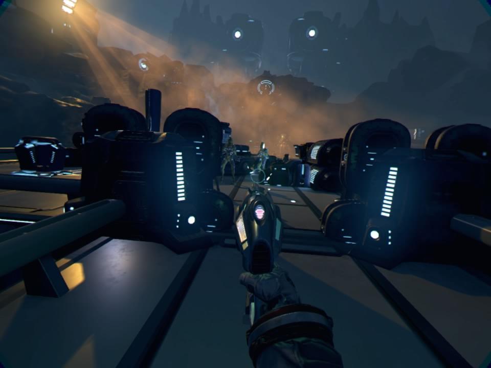 bipédes armes robots aliens dans farpoint