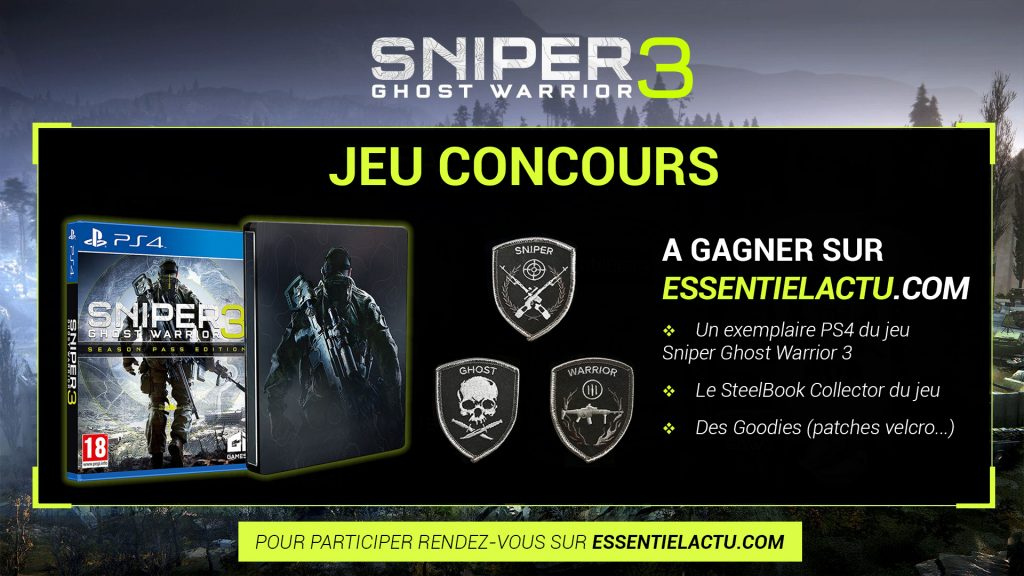 jeu concours sniper ghost warrior 3